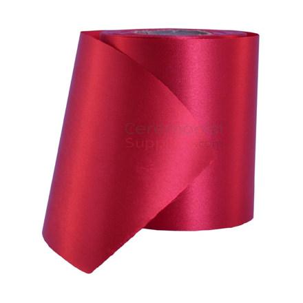 Full roll of plain grand opening ribbon.